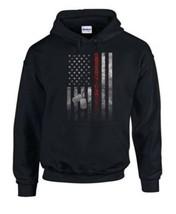 NEW Men's Women's Unisex Black American Flag Dog Tag Pull Over Non-Zip H... - $40.00