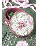 Doily-Topped Box Annie's Plastic Canvas Pattern/Instructions Leaflet RARE - $2.67