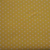 "Vintage Fabric 1970's 1960's Yellow Orange Design Stretch Polyester 60""x... - $49.18"