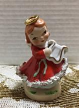 Vintage 1950's CHRISTMAS ANGEL Figurine Holiday Decor Lefton Spaghetti Trim - $12.00