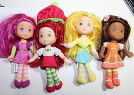 "6"" Lot 4 Strawberry Shortcake & Friends 6"" Dolls dressed n Clothes FREE ... - $24.95"