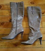Nine West 10.5 Brown Knee High Heeled Boots Winter Fashion Firstrateo - €22,57 EUR