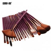 MAANGE 18Pcs Cosmetic Brushes Tool Set Makeup Power Eye Shadow Foundatio... - $13.02