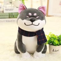 Black- Shiba Inu Dog Doll Plush Stuffed Fur Curly Toy Cute Puppy Japan Gifts Kid - $17.50