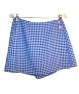 Sz 11 - I.N. Blue & White Plaid Short Skort Skirt - $24.24