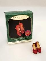 Hallmark Dorothy's Ruby Slippers Wonders of Oz 1st in Series 1999 Miniature Orna - $21.78