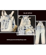 Blue Spice Jean Overalls Juniors Sz 5 Cloud Blue Distressed NWT - $18.99