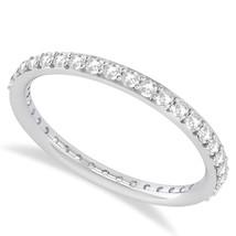 0.57 Ct Round Cut White Real Diamond 14K Gold Full Eternity Wedding Band... - €291,68 EUR