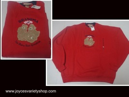 GRANDMA OF THE BEARY BEST GRANDKIDS Fleece Sweatshirt NWT SZ XL M&C Spor... - $13.99