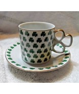 Shamrock clover Irish cup and saucer - $14.00