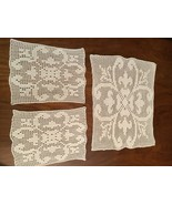 Vintage hand made crocheted Set of 3 doilies  - $10.00