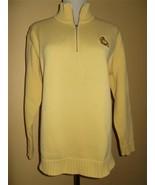 RALPH LAUREN Zip Sweater Pullover Yellow Knit w/ Creed Sz S EUC - $18.49