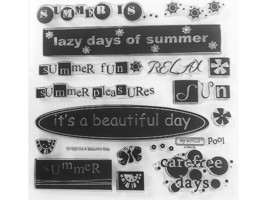 """Close to My Heart """"It's A Beautiful Day"""" Clear Cling Acrylic Stamp Set #D1033"""