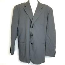 Giorgio Armani Le Collezioni Italy Gray Blazer Sport Coat Mens Size 44 - $42.56