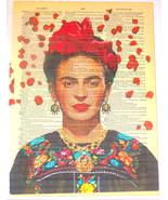 Art N Wordz Frida Kahlo Rose Petals Original Dictionary Page Wall/Desk P... - $21.00