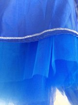 Midi Tulle Tutu Skirt 4 Layered Midi Tulle  Skirt Royal Blue Plus Size image 4
