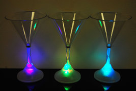8 Mode Color Changing LED Martini Glass - $7.95