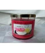 Bath & Body Works Slatkin & Co. Caribbean Escape Pink Jar Candle 14.5 Oz... - $56.95