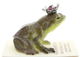 Hagen-Renaker Miniature Frog Prince Kissing Birthstone 02 February Amethyst image 2