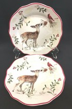 """Better Homes & Gardens Heritage Collection Deer & Cardinal 8-3/4"""" Plates... - $21.99"""