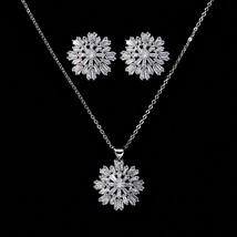 Jewelry Sets HADIYANA Delicate Trendy Women Wedding Bridal Necklace And ... - $28.34