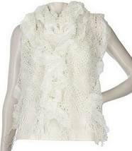 Collection XIIX Ruffle Lace Muffler with Fringe - $10.88