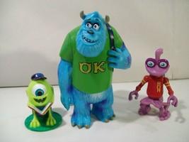 Lot Of 3 Disney Monsters University Pvc Figures Sulley Mike Wazowski Randall - $14.65