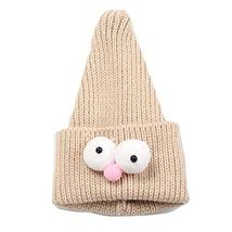 Cute Insect Children Hand-knitted Resile Winter Hat Baby Soft Warm Cap,Beige