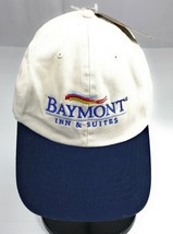 NWT Baymont Inn Suites Strapback Adjustable Cotton Khaki Navy Baseball C... - $11.08