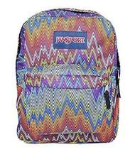 Jansport T501 Superbreak Backpack Multi Color Tip Top Chevron 7084 - $32.04 CAD