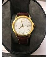 Citizen Eco-Drive BM7262-57A Men's Roman Numerals Leather Band 40mm Watch - $119.99