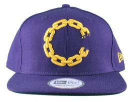 Crooks & Castles New Era Purple/Yellow or Khaki Chain C Snapback Hat image 1