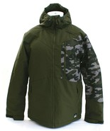 O'Neill Cue Green Camouflage Insulated Zip Front Hooded Snow Jacket Men's NWT - $172.49