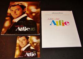 2004 ALFIE Movie PRESS KIT Folder, CD, Production Notes JUDE LAW Marisa ... - $15.47