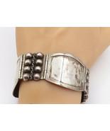 AC MEXICO 925 Silver - Vintage Blue Jasper Bow Tie Design Bangle Bracele... - $73.87