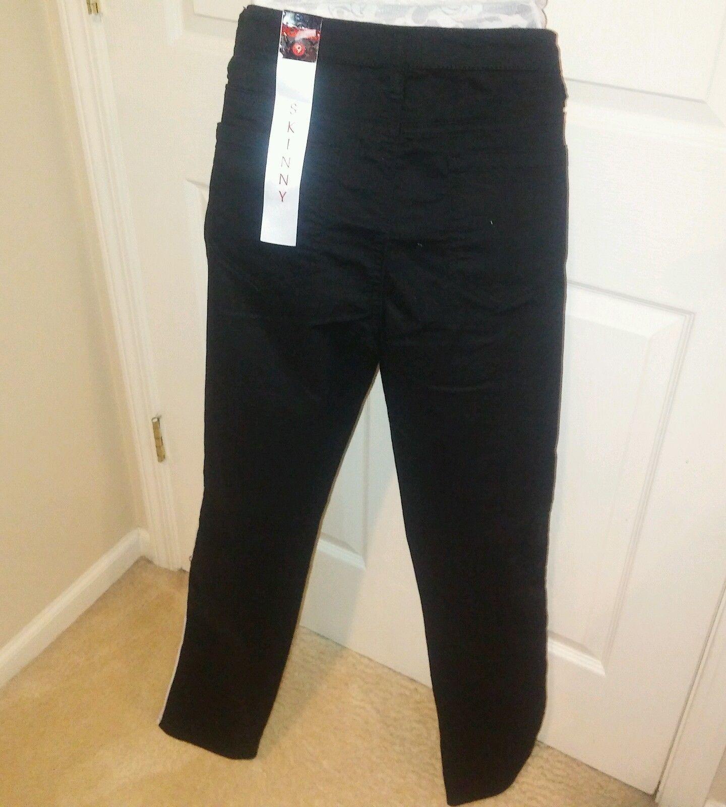 Bongo Juniors Black/White Stretch Jeans Size 9