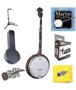 Oscar Schmidt OB5 Gloss 5 string banjo w/resonator w/Black Hard Case + More - $279.95