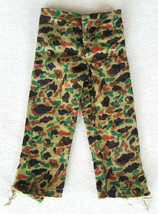 Vtg GI Joe Green Camo Pants-Fabric Cloth-Japan-Hasbro-Forest Jungle Camo... - $10.90