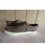 Polo Ralph Lauren Vaughn Lace Sneakers, Dark Khaki  Herringbone Chambray... - $32.67