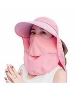 Sun Face Mask Visor Hats UV Protection Foldable Hat Neck Face Flap Cover... - £24.20 GBP