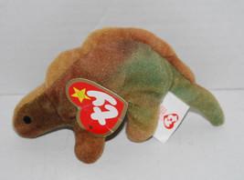 "Steg Stegasaurus Ty Teenie Beanie Baby McDonalds Happy Meal Toy 4"" Dinosaur  - $14.80"