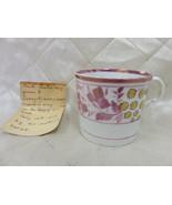 Child's Porcelain Mug Pink w/ Paper Story 1846 James Alexander Galway Be... - $36.39
