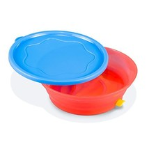 BooginHead Super Grip Sticky Bowl & Lid, Blue/Red - $13.11