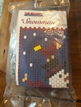Snowman Beaded Banner Kit NEW The Beadery Craft Products - $22.28