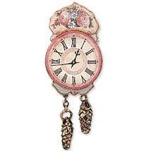 DOLLHOUSE Nostalgia Antique Rose Wall Clock 1.405/5 Reutter Porcelain Miniature - $16.40