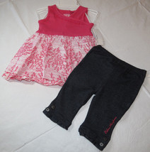 Calvin Klein 12M months  CK  outfit girls 2 pc Dress pants 3602013 pink ... - $29.69