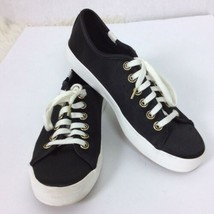 Keds x Kate Spade Womens Black Kickstart Satin Sneakers Shoes Size 8 EUR 39 - $37.25 CAD