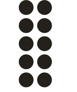 """1-1/2"""" Black Round Color Coded Inventory Label Dots Stickers MADE IN USA  - $2.49 - $3.99"""
