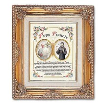 Pope Francis Framed Art with Prayer - $84.00