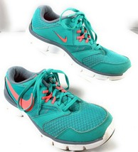 Nike Women's Flex Experience RN3 Fly Knit Teal Pink Running Shoes 8 - $18.65